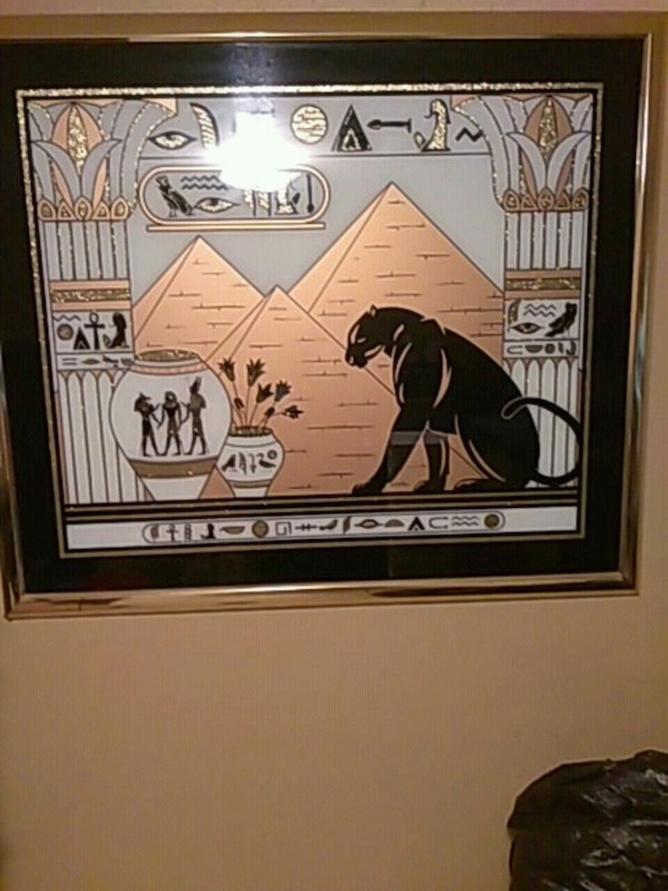 Beautiful  Egyptian  mirror picture