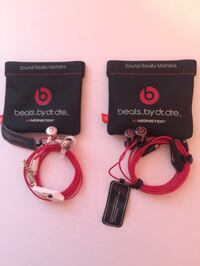 Two {2} Monster Beats by Dr Dre IBeats Headphones • Black/White • New