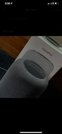 2020 Apple HomePod (Space Grey). **Mint Condition**. With receipt.