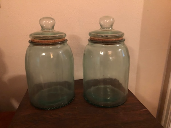Antique matching cookie jars