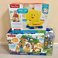 (NEW) Little People Share & Care Safari play set + Fisher Price Smart Stages Chair Ashburn