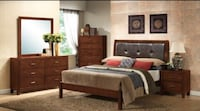 BRAND NEW QUEEN LEATHER PANEL BED SET!! DELIVERY AND ASSEMBLY INCLUDED! Lawrenceville