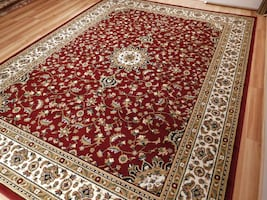 New Red Traditional area rug 5x8