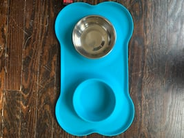 Top Paw bowl and silicone mat set