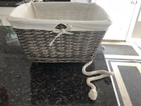 Wicker Basket with wheels and rope Sherwood Park, T8A 5R9