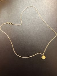 14K gold necklace and angel pendant