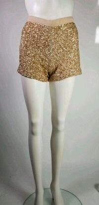 French Connection gold sequin shorts Westmount, H3Z 1R4