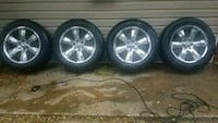"20"" chrome 6 lugs car wheel with tire set New Carrollton"