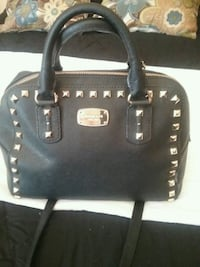 black Michael Kors spike studded leather zip tote  East Stroudsburg, 18302