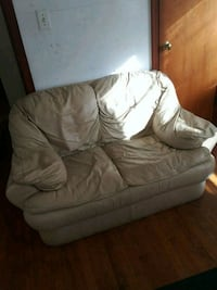 brown leather sofa chair with ottoman 525 mi
