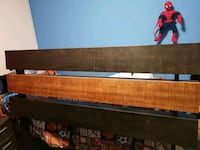 red and white wooden bed frame Mission, 78574