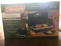 black and gray Coleman camping stove box Vancouver, V6E 2A3