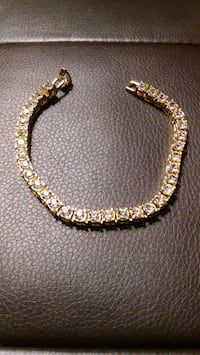 8 IN, 6MM GOLD PLATED, CZ BRACELET Philadelphia, 19152