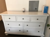 Solid Wood White 7 drawer dresser and nightstand. 27 mi