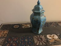 blue ceramic jar with lid Akron, 44319