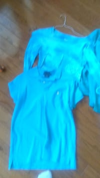 5.00 each teal top has never been worn and polo on 830 mi