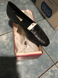 pair of black leather loafers Everett, 02149