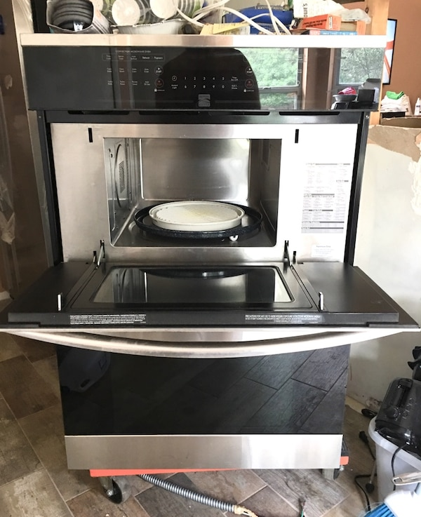New Built In Dual Convection Stove Microwave Combo
