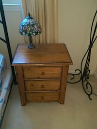 brown wooden 2-drawer nightstand Gaithersburg, 20878