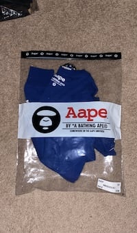 Brand New Bape Blue Long Sleeve Chantilly, 20151