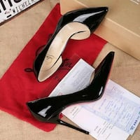 Pair of black pointed-toe pumps Annandale, 22003