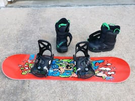 Youth snowboard + bindings + boots