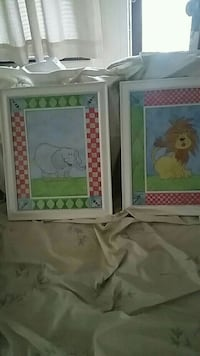 Elephant,lion framed and matted prints Rutherford, 07070
