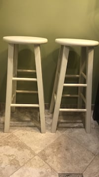 two white wooden bar stools Germantown, 20874