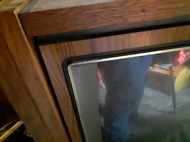 Old wooden rca tv