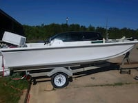 white runabout boat with trailer Leesville, 71446