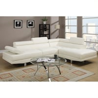 New Couch Sectional. White Leather. Free Delivery ! Culver City