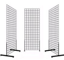 2 Black Grids (7ft tall) with shelves