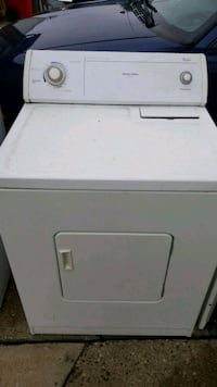 white front-load clothes dryer Charter Township of Clinton, 48035