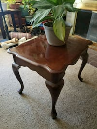 Cherry wood end table Delran