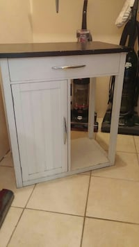 white wooden cabinet with mirror Essex County, N0R 1A0
