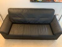 3 Seat Leather Sofa (black) Fairfax, 22030