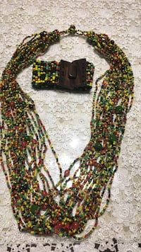 beaded green and yellow necklace Springfield, 22150