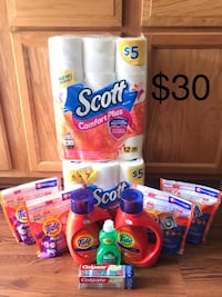 Assorted household cleaning products lot Norfolk, 23505