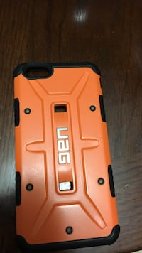 Orange and black Uag iPhone case