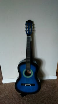 blue and black classical guitar 40 km