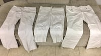 Three pairs brand name white stretch trousers/Capri pants Bakersfield, 93308