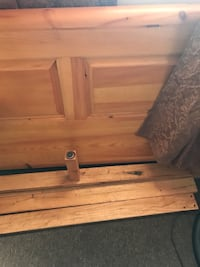 New full wooden bed frame