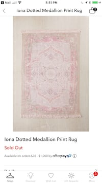 white and pink floral area rug screenshot Dallas, 75207