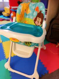 Baby's white and blue highchair Richmond, V7C 4M6