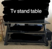 Black and gray tv stand Mississauga, L5N