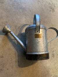 Small galvinized watering can