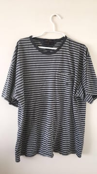 black and white striped scoop-neck shirt Brampton, L7A