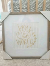 Joy to the world wooden and golden picture wall  Houston, 77095
