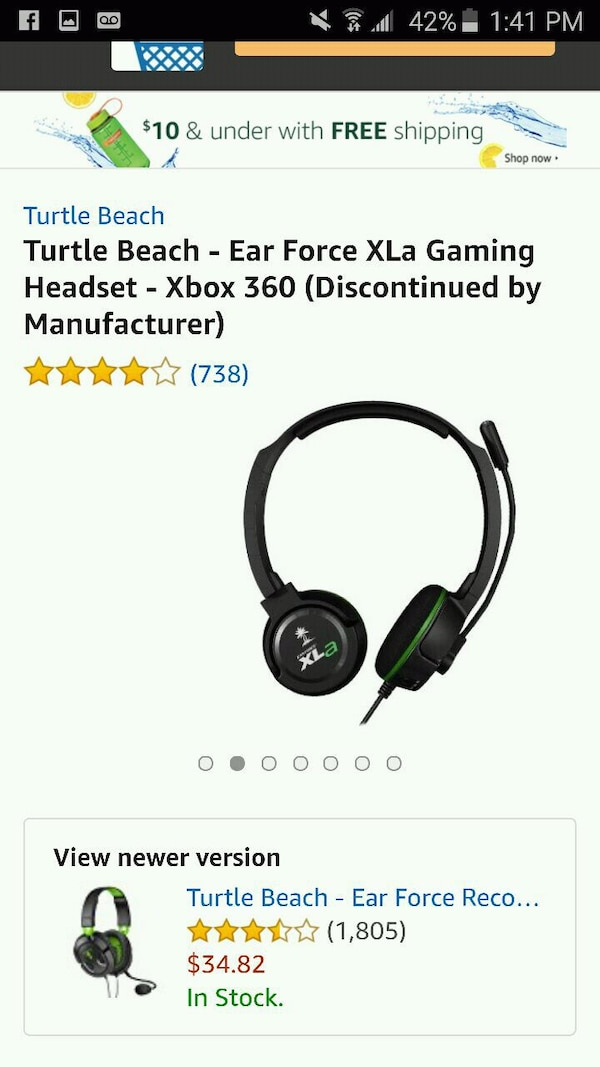 Turtle Beach headset for Xbox 360 like brand new