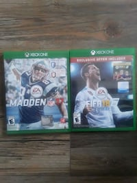 console game (fifa 18 madden 17 xbox one) Dumfries, 22025